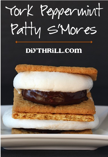 York Peppermint Patty S'mores Recipe at DIYThrill.com