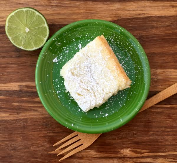 Key Lime Angel Food Cake Bars