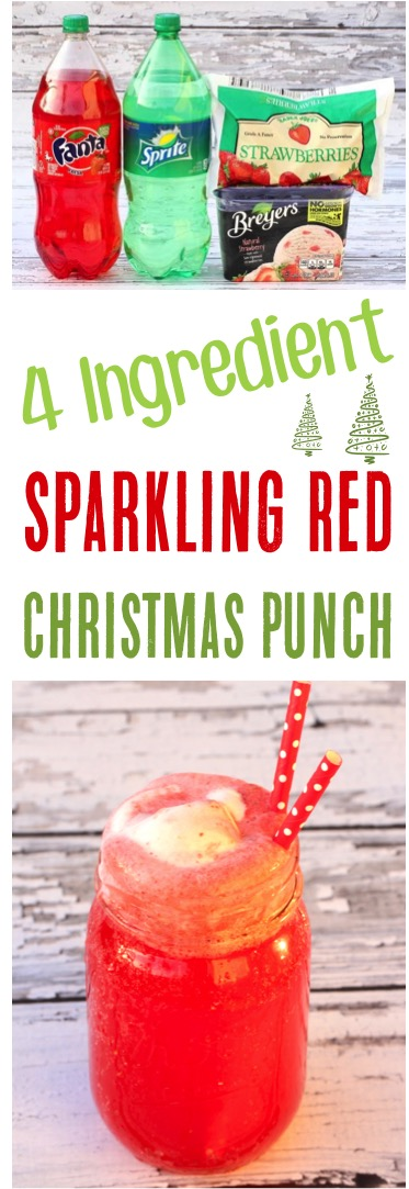 Sparkling Red Christmas Punch Recipe