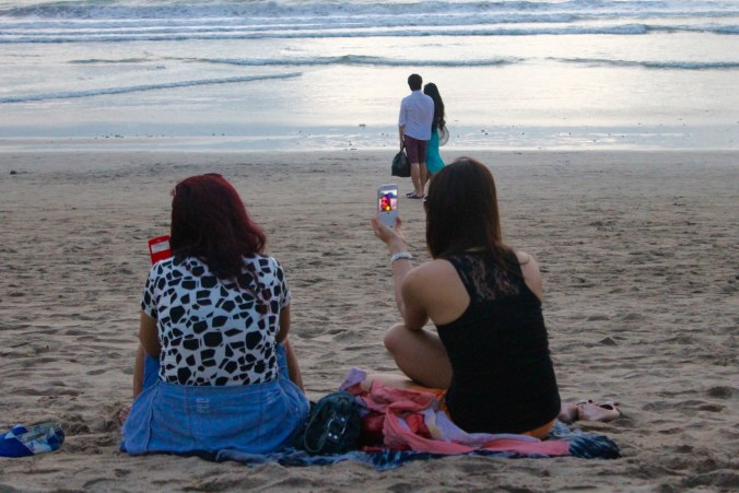 Sunset selfies Kuta Beach