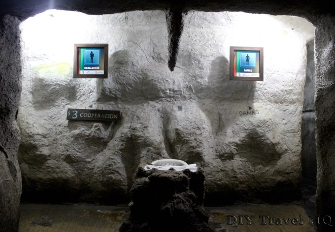 Cacahuamilpa cave toilets