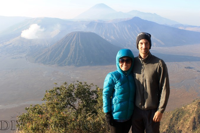 Happy campers on Mount Bromo!