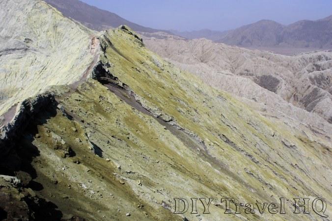 Yellow Sulphur Crater Mount Bromo