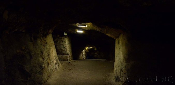 Darkness inside Observatory Xochicalco