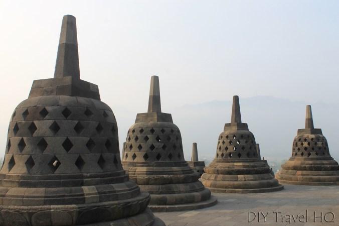 Buddha Statues Inside Stupas Borobudur