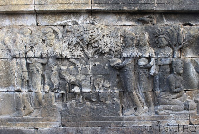 Relief Carvings on Borobudur
