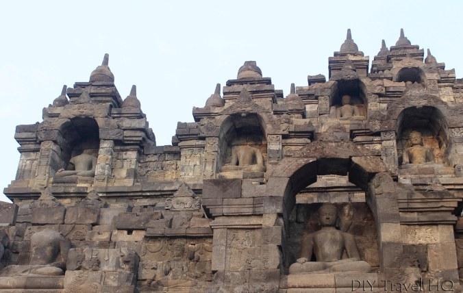 Headless Buddha Statues on Borobudur