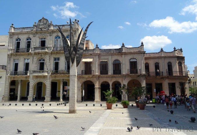 Old Havana Plaza Vieja Flower Monument