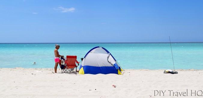 Tent on Varadero Beach