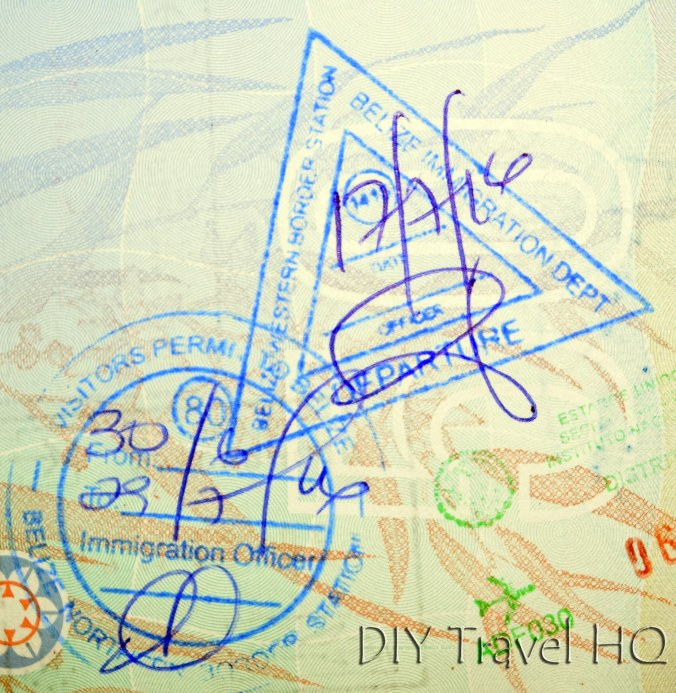 Belize Immigration Stamps