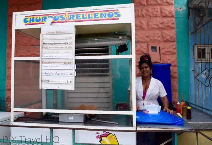 Churro stand in Cuba