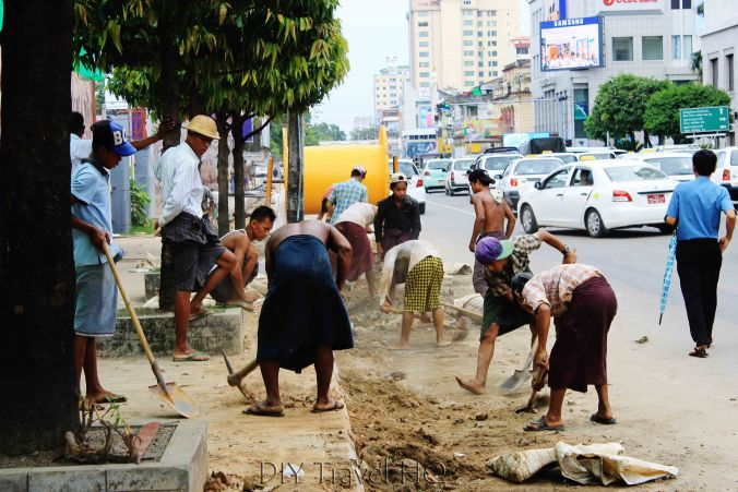 Construction in Downtown Yangon