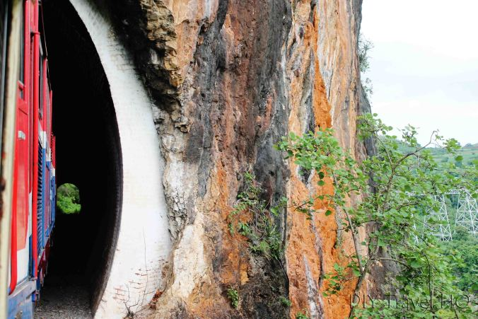 Rock carved tunnel to Gokteik Viaduct