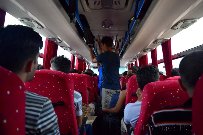 Traveling on Cuban national bus