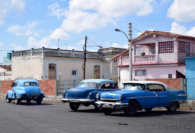 Shared taxi colectivo station in Cuba