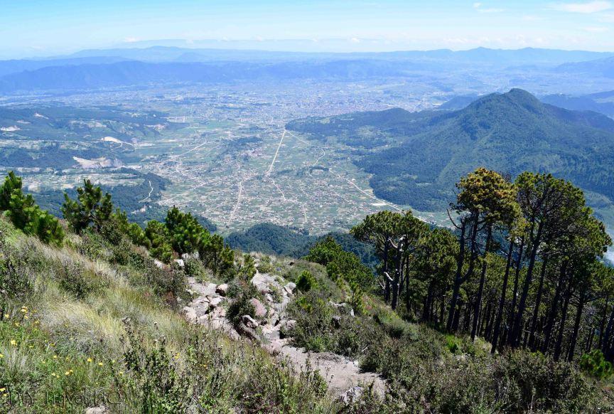 Volcan Santa Maria View of Volcan Almolonga and Xela