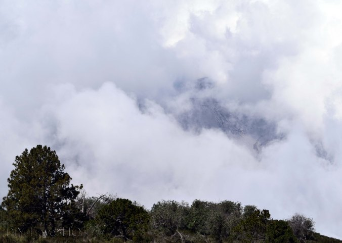 Volcan Santa Maria View of Volcan Santiaguito Crater in Clouds