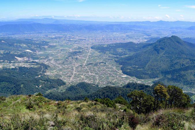 Volcan Santa Maria View of Xela and Volcan Almolonga