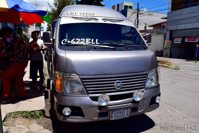 Xela to San Martin (Laguna Chicabal) Colectivo