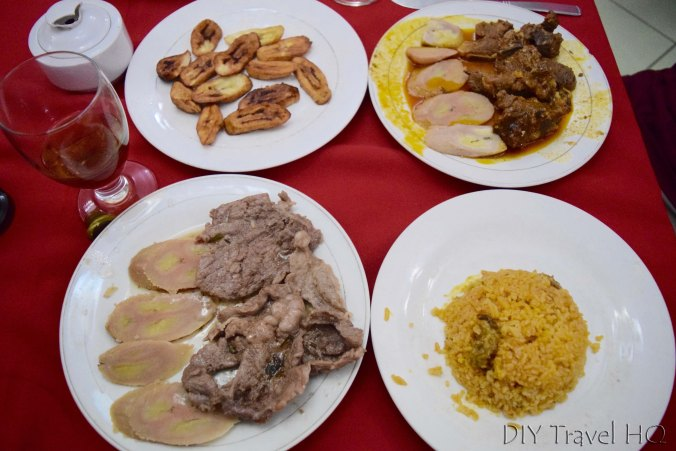 Government restaurant meal in Baracoa