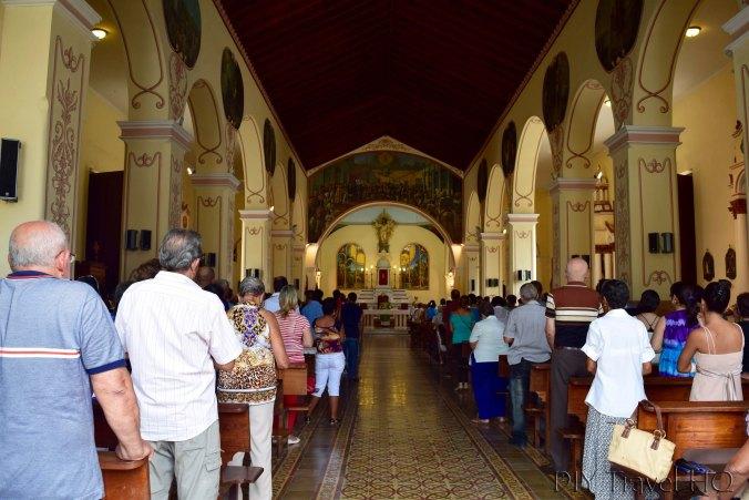 Sunday mass at church in Bayamo