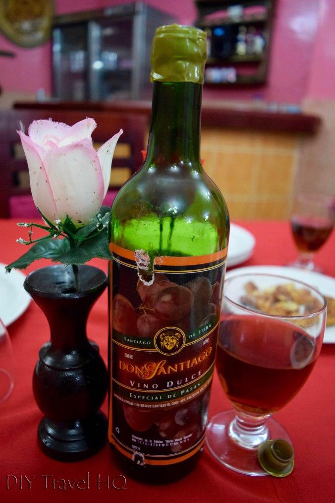 Bottle of Don Santiago Vino Dulce