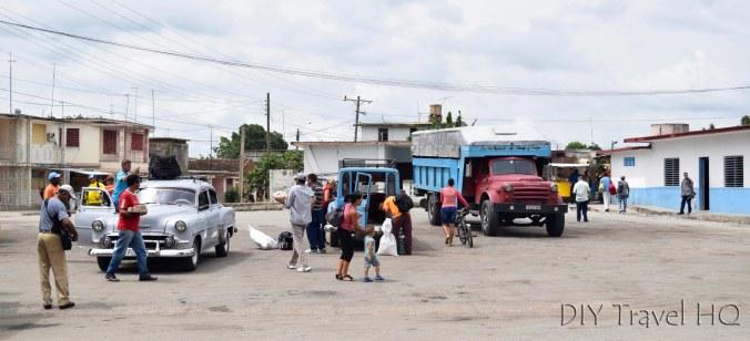 Bus terminal at Guimara