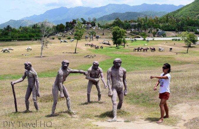 Tourist at Valle de la Prehistoria