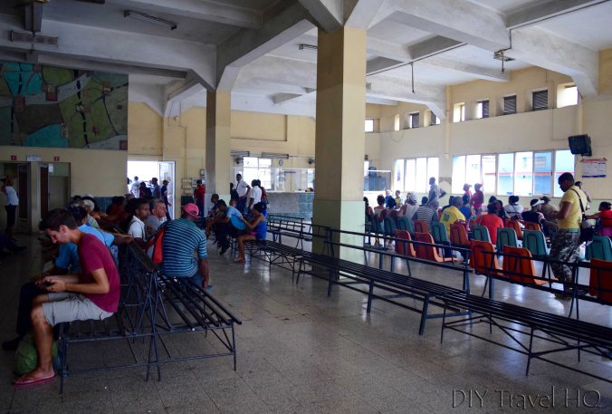 Bus terminal in Santiago de Cuba