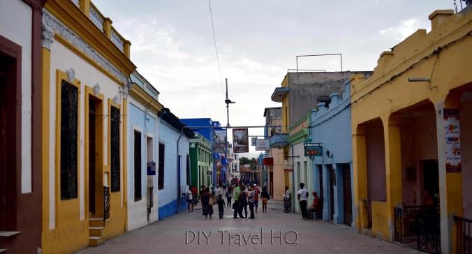 Main shopping strip in Santiago Cuba