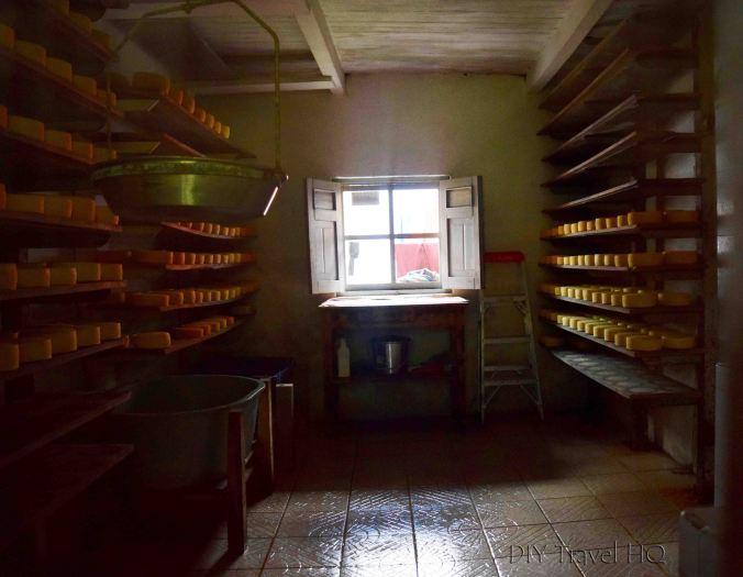 Hacienda San Antonio cheese wheel storage