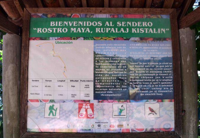 Hike to Indian Nose from San Juan La Laguna Trail Map