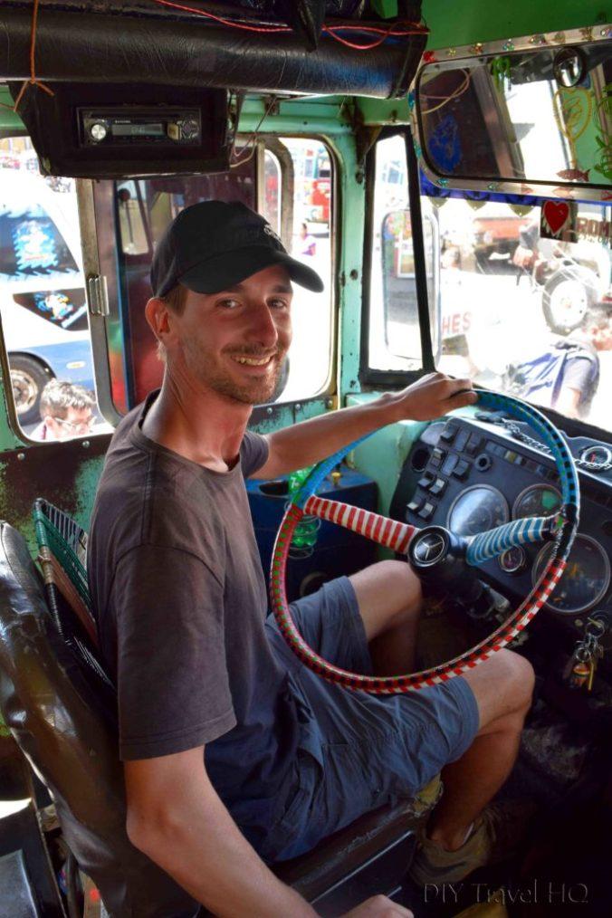 Huehuetenango to Todos Santos Cuchumatan Chicken Bus Driver Erik