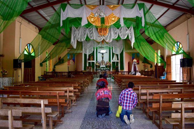 San Marcos La Laguna Crawlking on Knees Faithful in Church