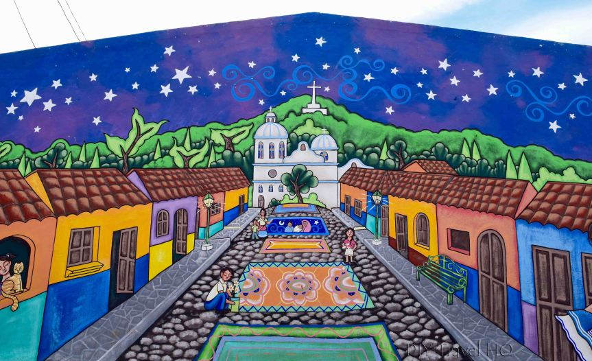 Ataco Mural of Village