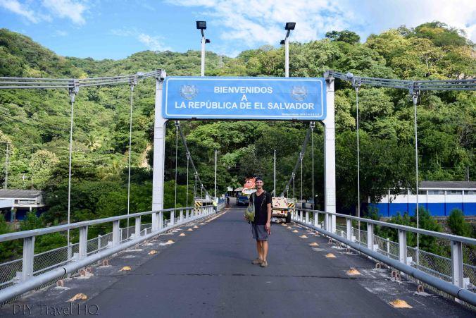 Border Crossing Bridge Valle Nuevo Guatemala to Las Chinamas El Salvador
