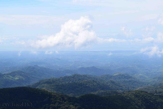 El Imposible National Park Cerro Leon Summit View of Pacific Ocean