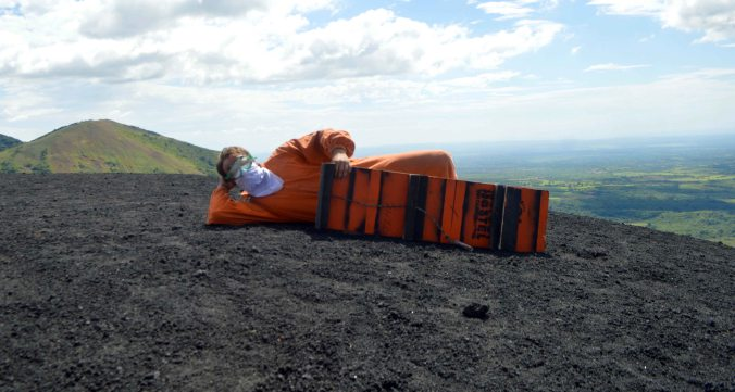 Bigfoot Hostel Invents Volcano Boarding