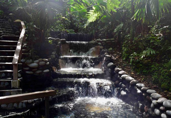 EcoTermales Hot Springs Cascading Waterfalls