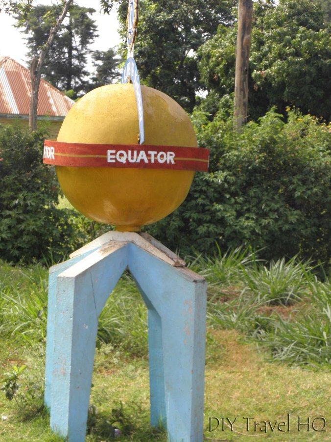 Equator marker in Kenya