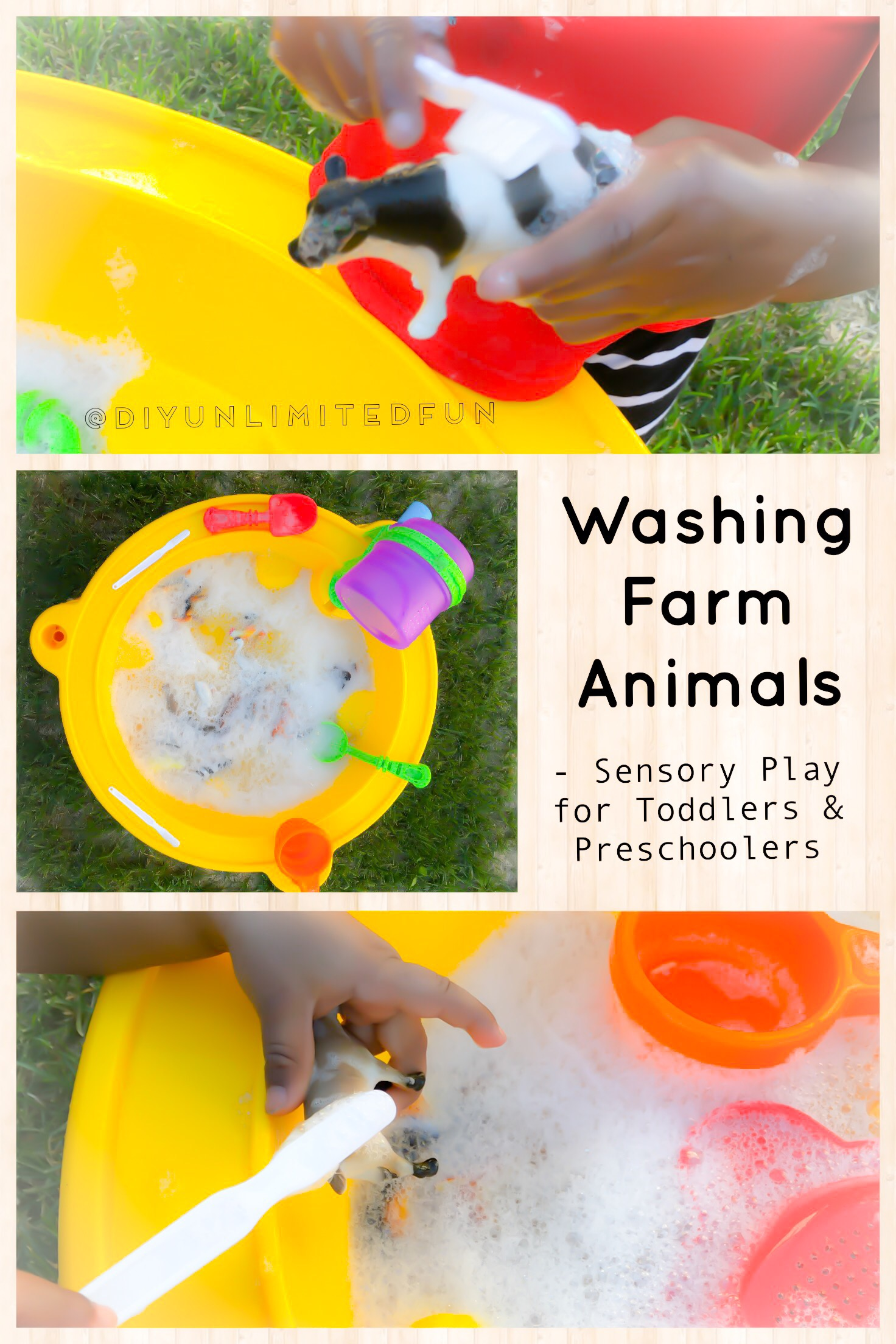 Washing Farm Animals Sensory Play For Toddlers