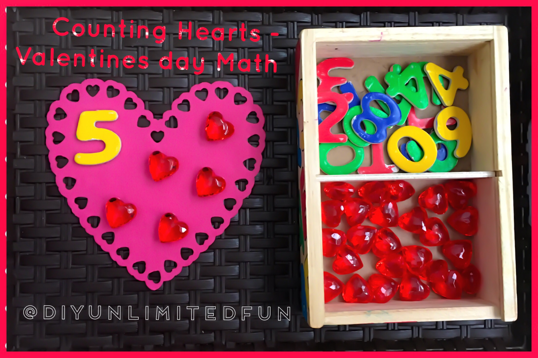 Counting Hearts Valentines Day Math Simple Diys Kids