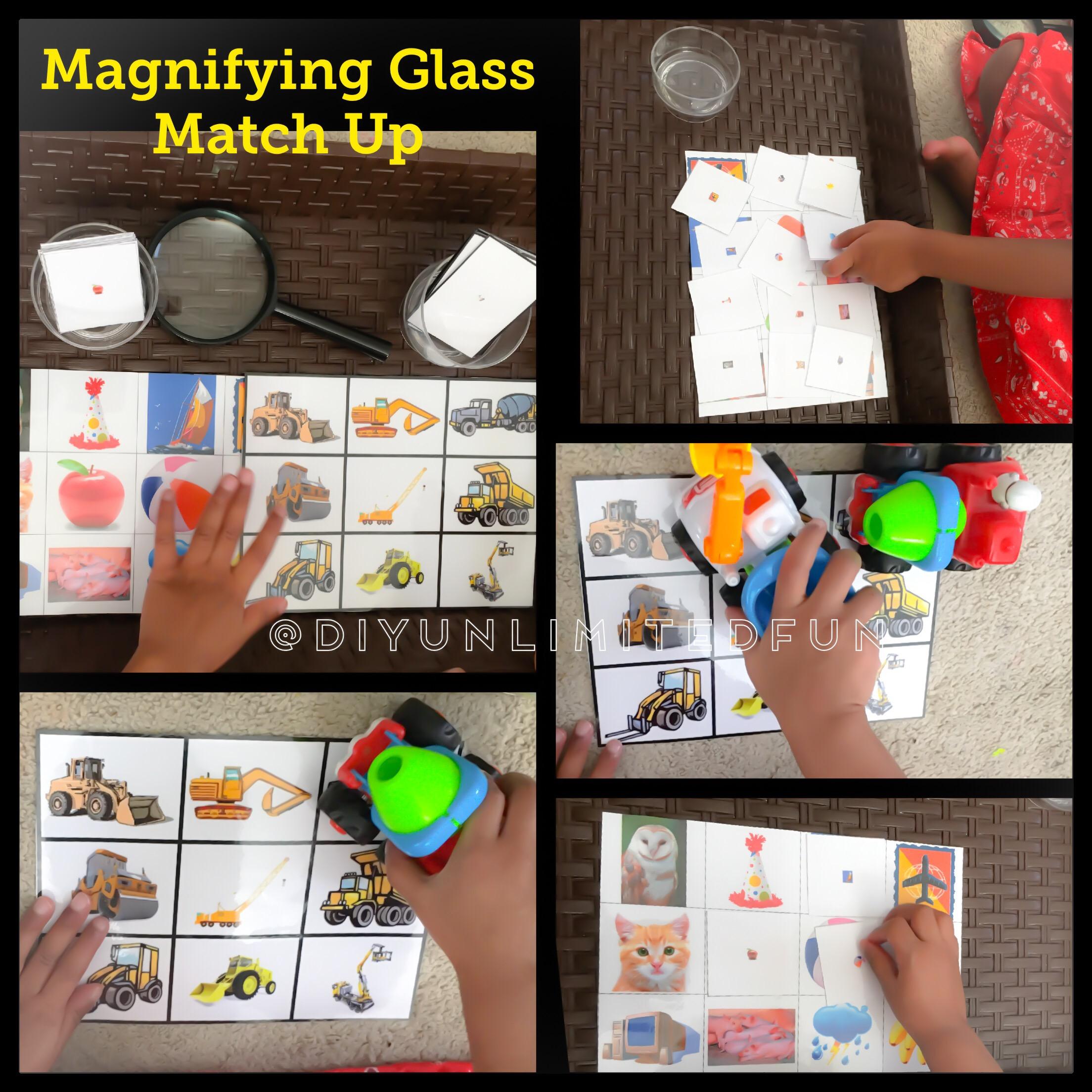 Magnifying Glass Match Up Free Printable Simple Diys