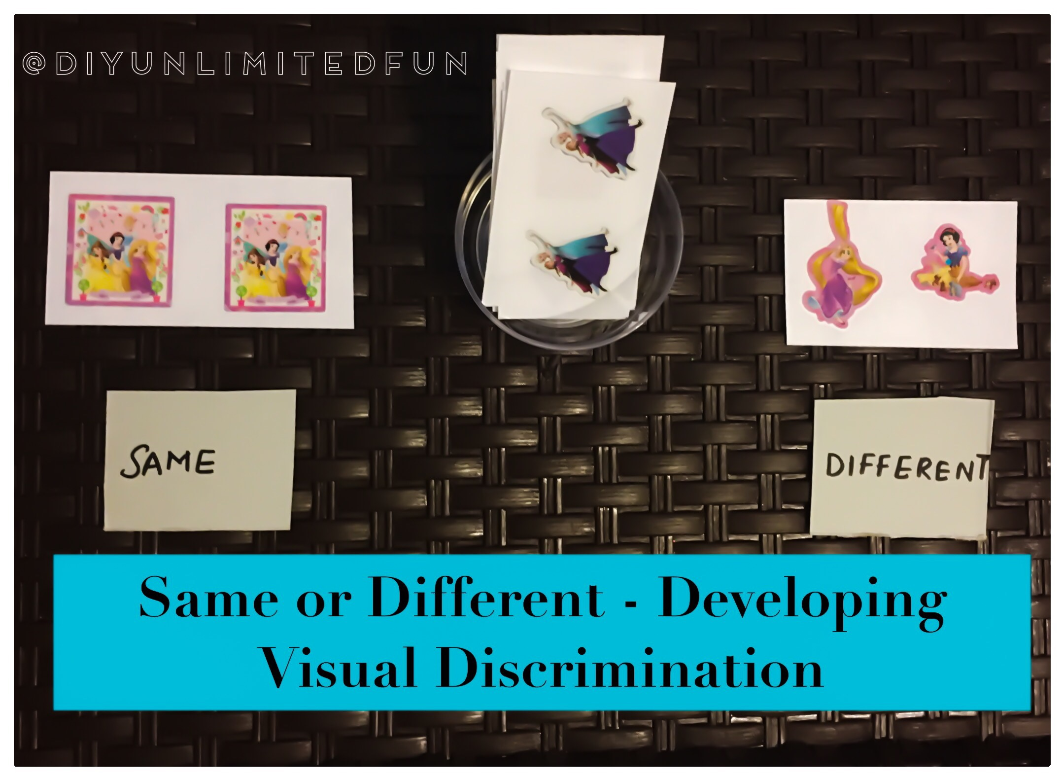 Same Or Different Developing Visual Discrimination Simple Diys Kids Activities