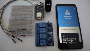 mi band home automation using arduino, IFTTT, relay, nodemcu esp8266, and blynk by diyusthad