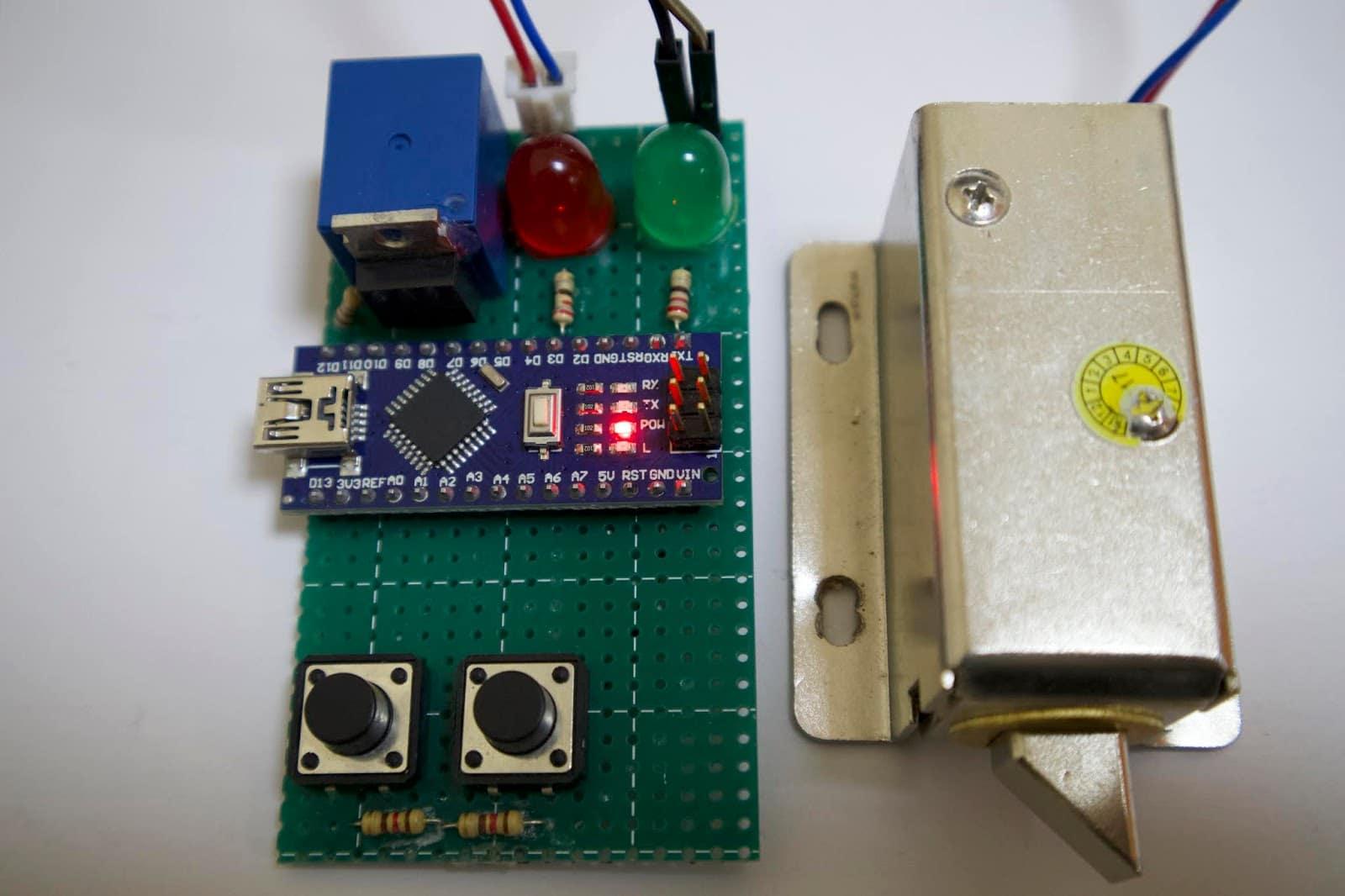 Secret pattern lock using Arduino