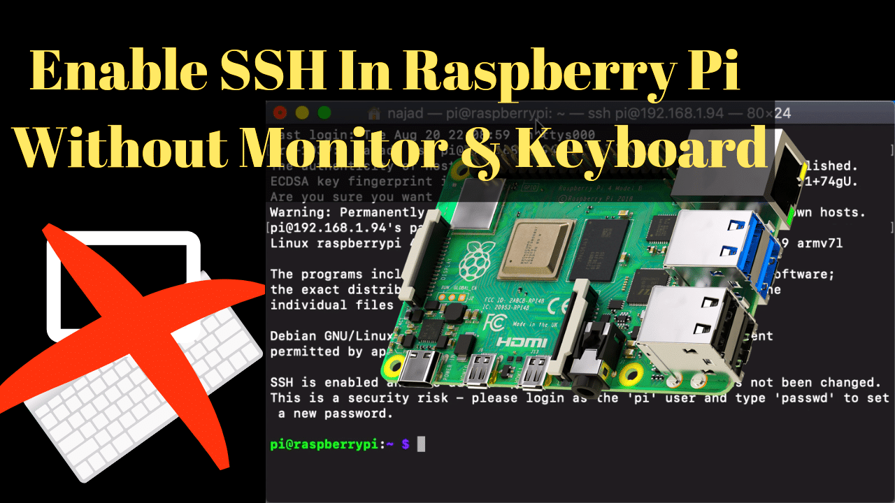 How to enable SSH on​ Raspberry Pi if you don't​ have an HDMI monitor & keyboard