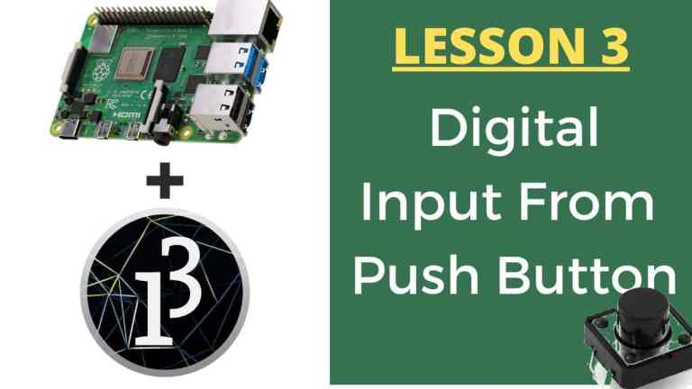 Raspberry Pi With Processing – Push Button – Lesson 3