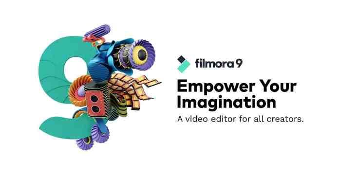 Box shot Filmora9 new release promo.