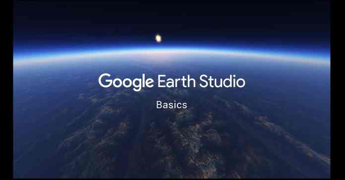 Opening splash page of Google Earth Studio